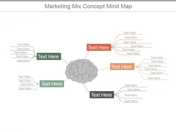 Product Concept Map.Marketing Mix Concept Mind Map Ppt Powerpoint Presentation Example