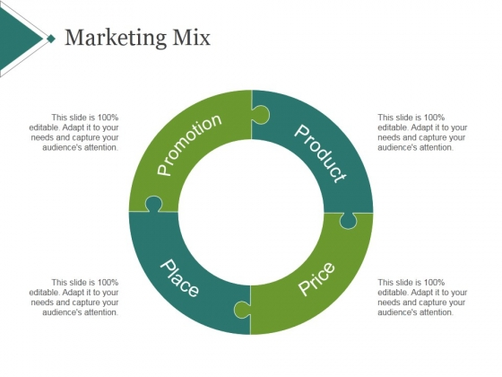 Marketing Mix Template 2 Ppt PowerPoint Presentation Diagrams