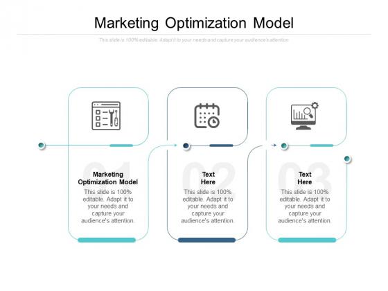 Marketing Optimization Model Ppt PowerPoint Presentation Infographic Template Portrait Cpb