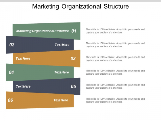 Marketing Organizational Structure Ppt PowerPoint Presentation Summary Brochure Cpb