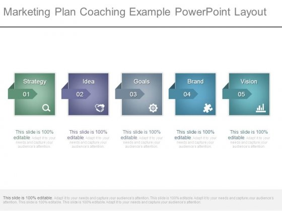Marketing Plan Coaching Example Powerpoint Layout