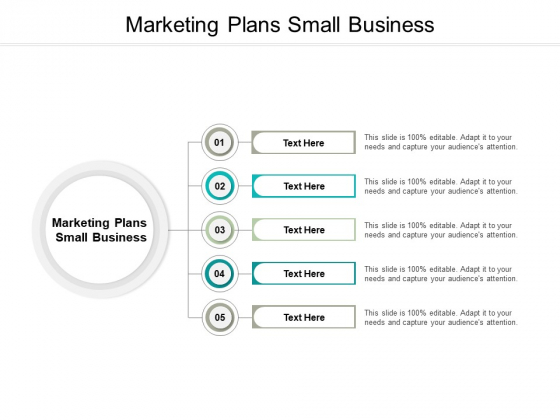 Marketing Plans Small Business Ppt PowerPoint Presentation File Layout Ideas Cpb