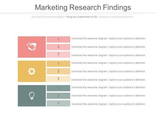 Marketing Research Findings Ppt Slides