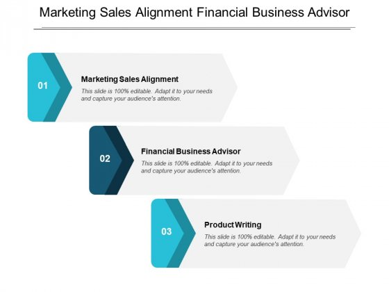 Marketing Sales Alignment Financial Business Advisor Product Writing Ppt PowerPoint Presentation Gallery Pictures