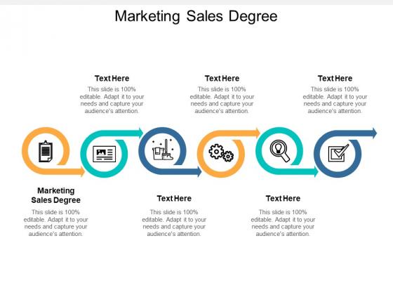 Marketing Sales Degree Ppt PowerPoint Presentation Portfolio Brochure Cpb