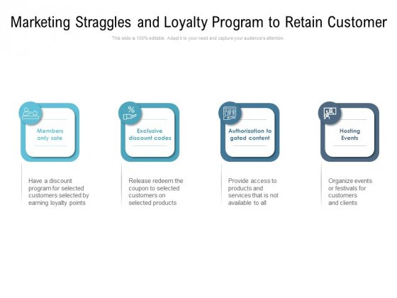 Marketing Straggles And Loyalty Program To Retain Customer Ppt PowerPoint Presentation File Graphics Tutorials PDF