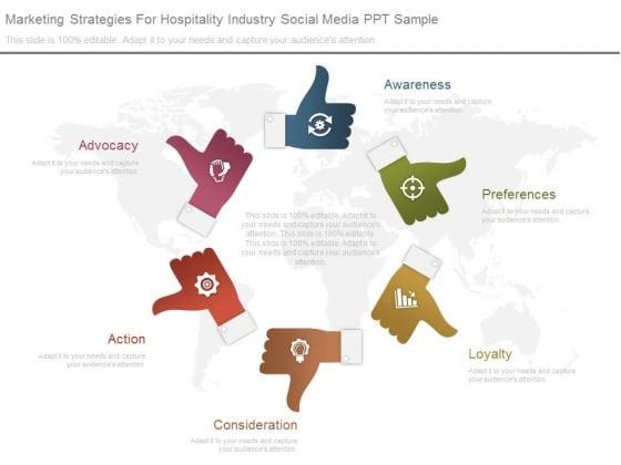 Marketing Strategies For Hospitality Industry Social Media Ppt Sample