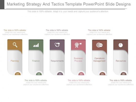 marketing strategy and tactics template powerpoint slide designs