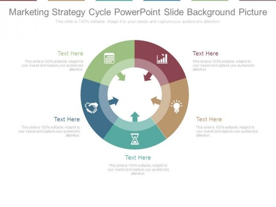 Marketing Strategy Cycle Powerpoint Slide Background Picture