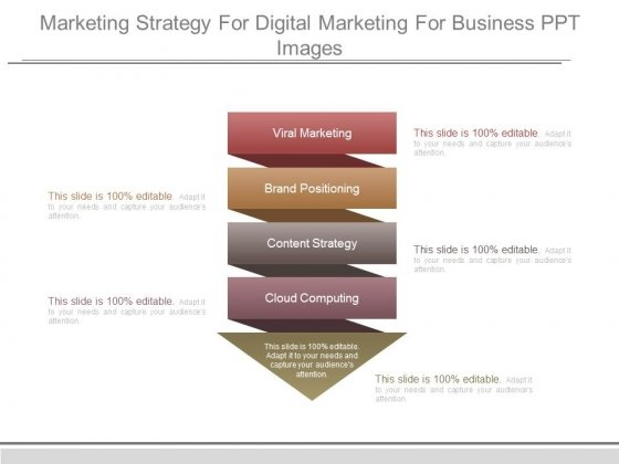 Marketing Strategy For Digital Marketing For Business Ppt Images