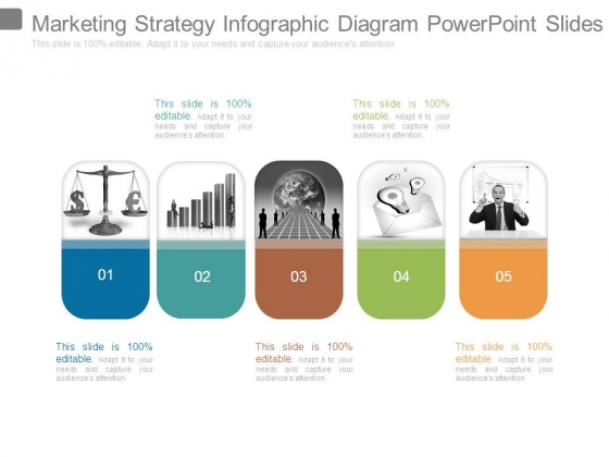 Marketing Strategy Infographic Diagram Powerpoint Slides