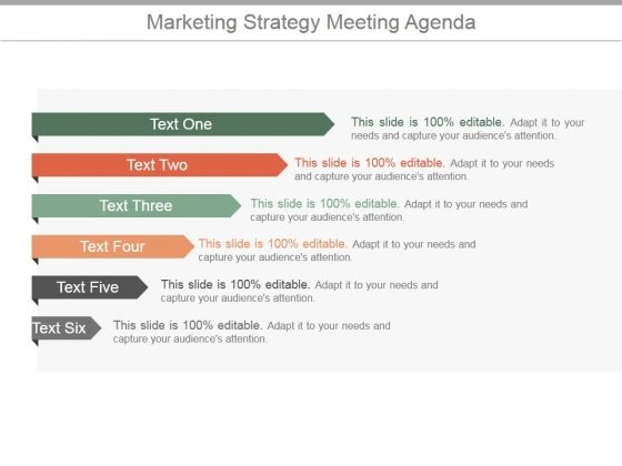 Marketing Strategy Meeting Agenda Ppt PowerPoint Presentation Show