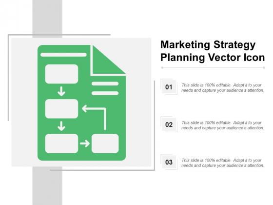 Marketing Strategy Planning Vector Icon Ppt PowerPoint Presentation File Gridlines