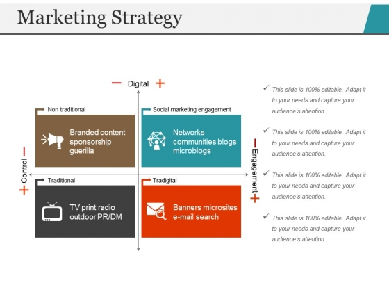 Marketing Strategy Template 1 Ppt PowerPoint Presentation Outline Slide