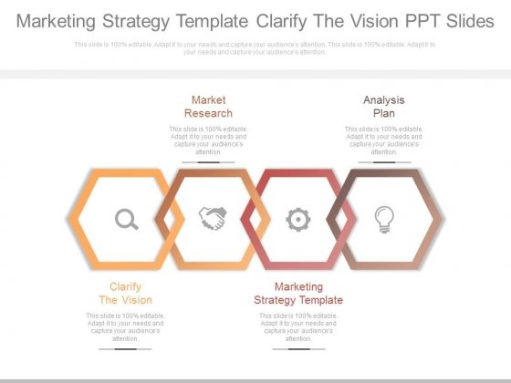 marketing strategy template clarify the vision ppt slides