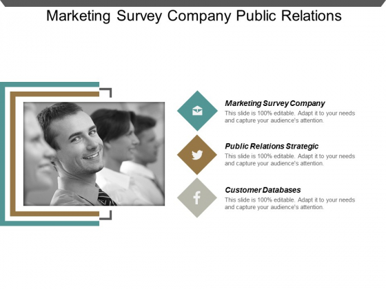 Marketing Survey Company Public Relations Strategic Customer Databases Ppt PowerPoint Presentation Show Design Inspiration