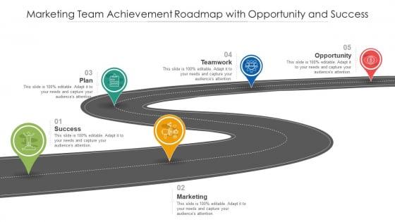 Marketing Team Achievement Roadmap With Opportunity And Success Ppt Portfolio Slideshow PDF