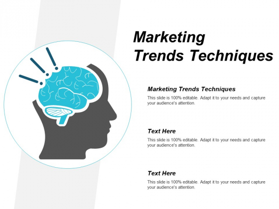 Marketing Trends Techniques Ppt PowerPoint Presentation Show Brochure Cpb