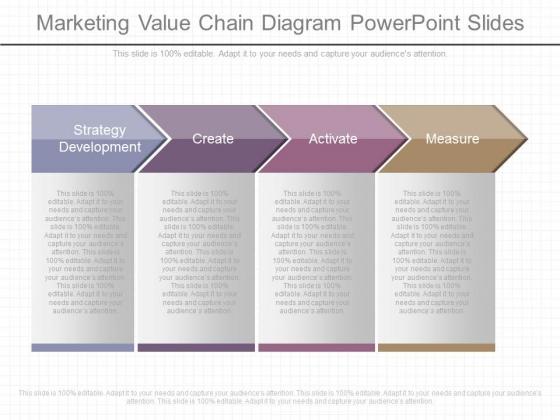 Marketing Value Chain Diagram Powerpoint Slides