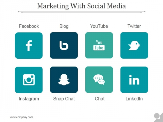 Marketing With Social Media Ppt PowerPoint Presentation Files
