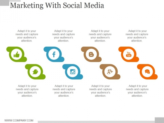 Marketing With Social Media Ppt PowerPoint Presentation Gallery Guidelines