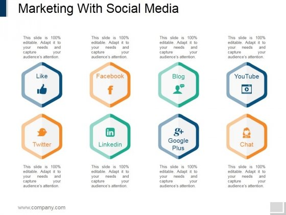 Marketing With Social Media Ppt PowerPoint Presentation Infographic Template Graphics