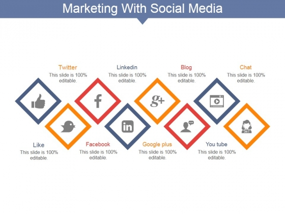 Marketing With Social Media Ppt PowerPoint Presentation Model Shapes