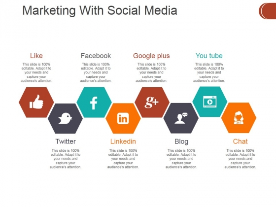 Marketing With Social Media Ppt PowerPoint Presentation Professional Graphics Tutorials