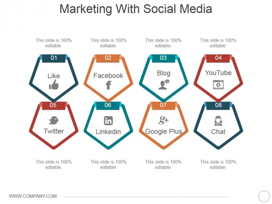 Marketing With Social Media Ppt PowerPoint Presentation Slides Picture