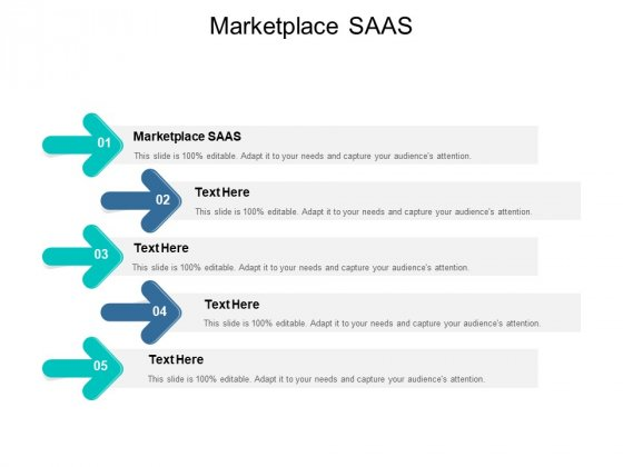 Marketplace SAAS Ppt PowerPoint Presentation Inspiration Designs Cpb