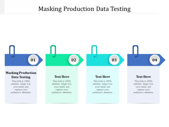 Masking Production Data Testing Ppt PowerPoint Presentation Pictures Clipart Cpb Pdf