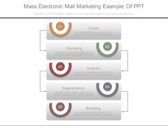 Mass Electronic Mail Marketing Example Of Ppt