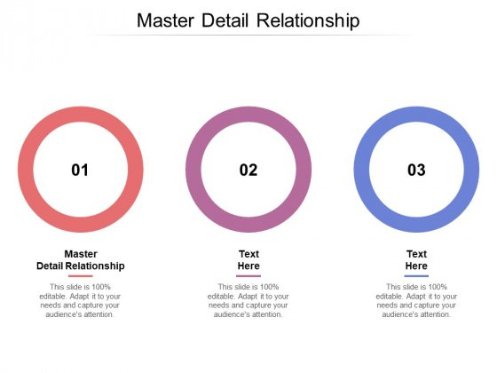 Master Detail Relationship Ppt PowerPoint Presentation Professional Inspiration Cpb Pdf