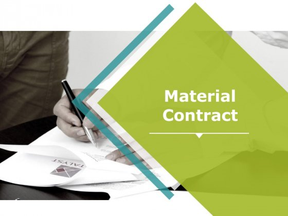 Material Contract Ppt PowerPoint Presentation Information