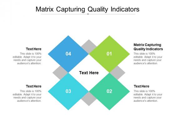 Matrix Capturing Quality Indicators Ppt PowerPoint Presentation Ideas Professional Cpb Pdf