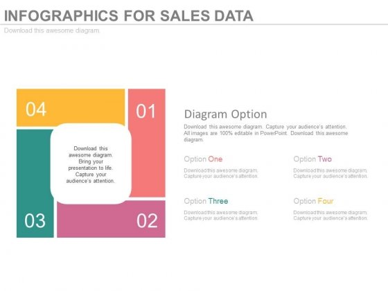 Matrix Of Four Business Steps Powerpoint Template
