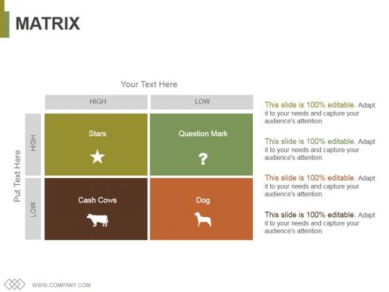 Matrix Ppt PowerPoint Presentation Infographics Templates