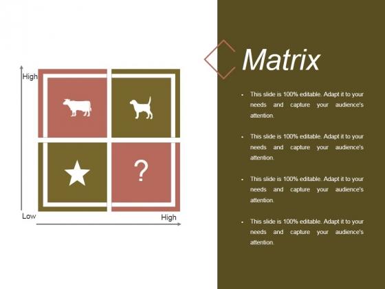 Matrix Ppt PowerPoint Presentation Outline Deck