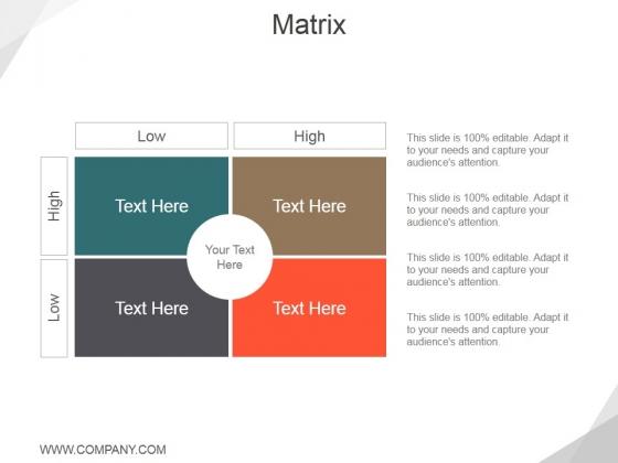 Matrix Ppt PowerPoint Presentation Outline Design Templates