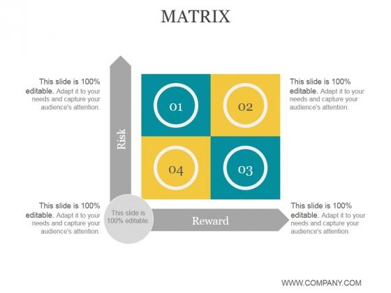 Matrix Ppt PowerPoint Presentation Show