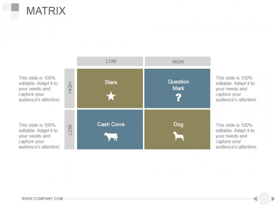 Matrix Ppt PowerPoint Presentation Slides