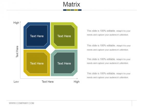 Matrix Ppt PowerPoint Presentation Styles Tips