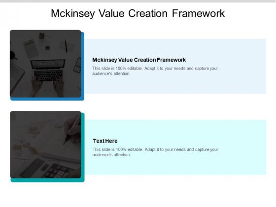 Mckinsey Value Creation Framework Ppt PowerPoint Presentation Infographic Template Layout Ideas Cpb