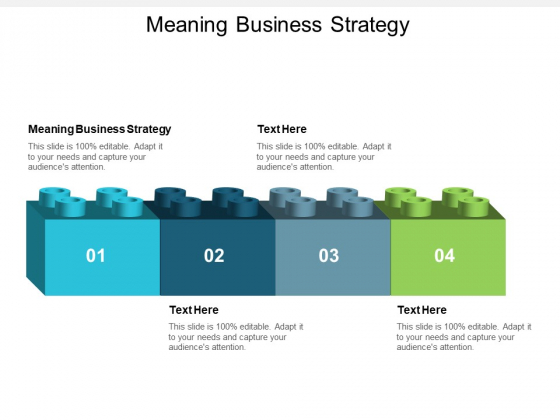 Meaning Business Strategy Ppt PowerPoint Presentation Infographics Background Image Cpb