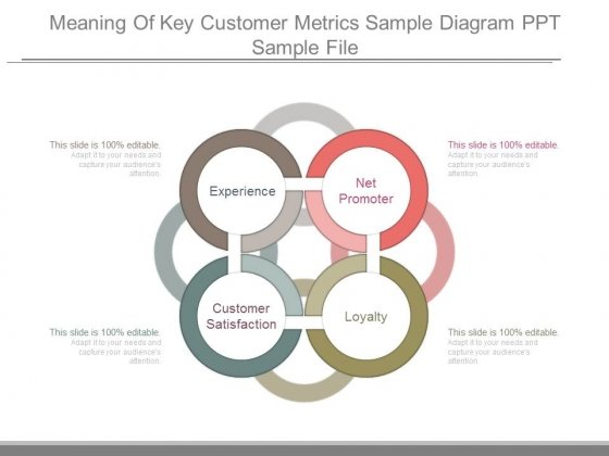 Meaning Of Key Customer Metrics Sample Diagram Ppt Sample File Powerpoint Templates