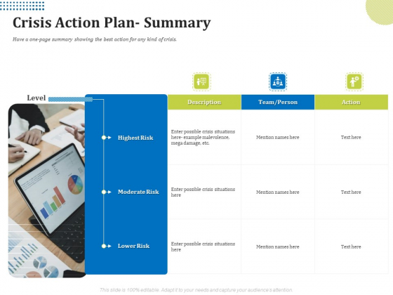 Means Of Communication During Disaster Management Crisis Action Plan Summary Ppt Portfolio Graphics PDF