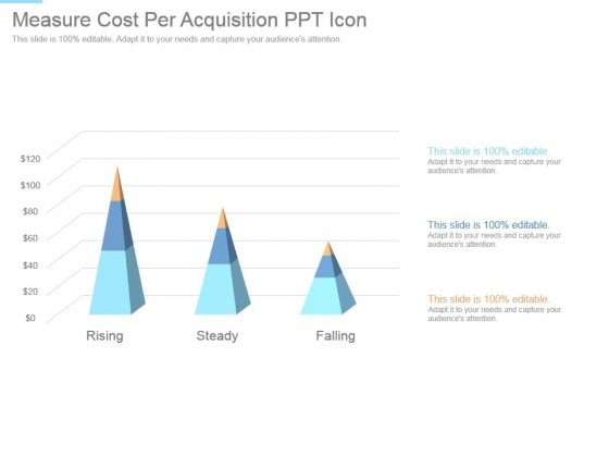 Measure Cost Per Acquisition Ppt Icon