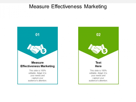 Measure Effectiveness Marketing Ppt PowerPoint Presentation Icon Gridlines Cpb