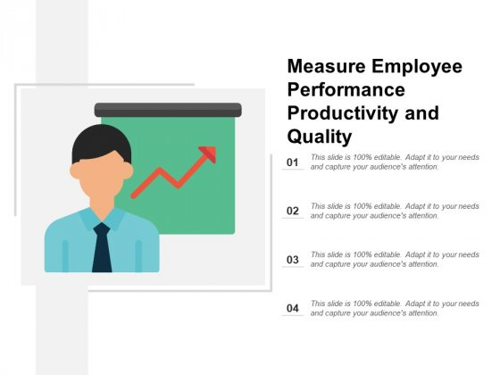 Measure Employee Performance Productivity And Quality Ppt PowerPoint Presentation Styles Icons