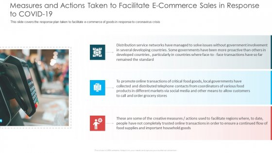 Measures And Actions Taken To Facilitate E Commerce Sales In Response To COVID 19 Ideas PDF